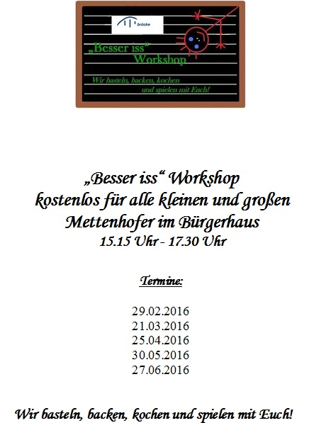 Workshop Termine Besser iss